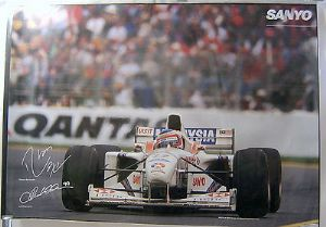 Stewart Ford F1 Team Sanyo Official Poster - Barrichello/Magnussen - 1997